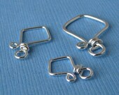 Artisan Clasp Findings, Handmade Sterling Silver Aztecs: Large, Small & Tiny - Made in USA
