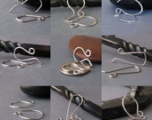 Small Silver Filled Ear Wires, Handmade Earwire Supply Findings, Set of 9 pairs - Choice of Finish, Made in USA