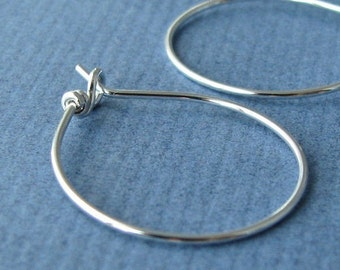 Sleeper Hoop Earrings or Earwires, Sterling Silver Handmade Jewelry Findings - Made in USA