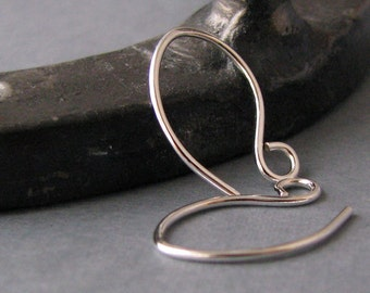 Silver Filled Ear Wires, Tiny Artisan Earring Findings, 20 gauge Handmade Teenie Weenie Elfins - 2 pairs