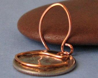 Handmade Tiny Copper Earwires, Teenie Weenie Elfin, 2 pairs - Made in USA