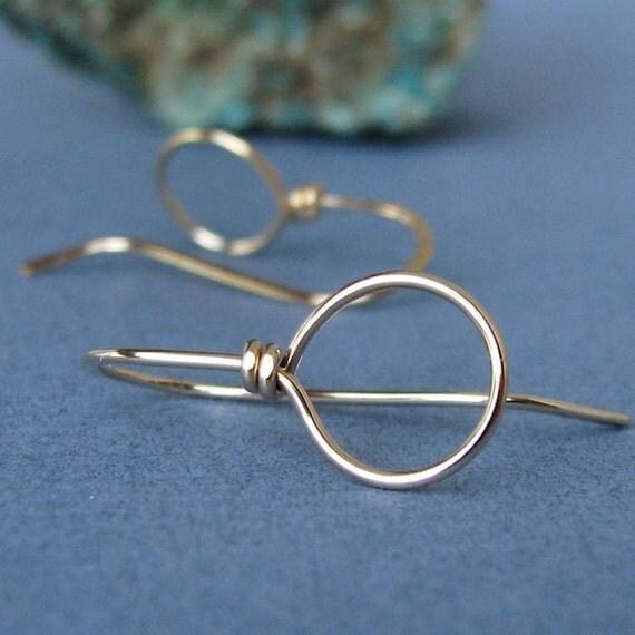 14k Gold Filled Ear Wires Handmade Earring Findings Big Loop