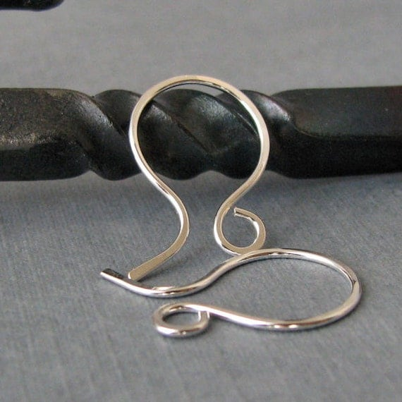 Silver Filled Ear Wires, Handmade Jewelry Findings, Mini French Hoops, 2 pair - Made in USA