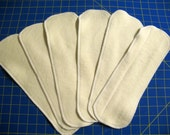 5 Organic Cotton/Hemp Diaper Inserts Doublers 12 x 4