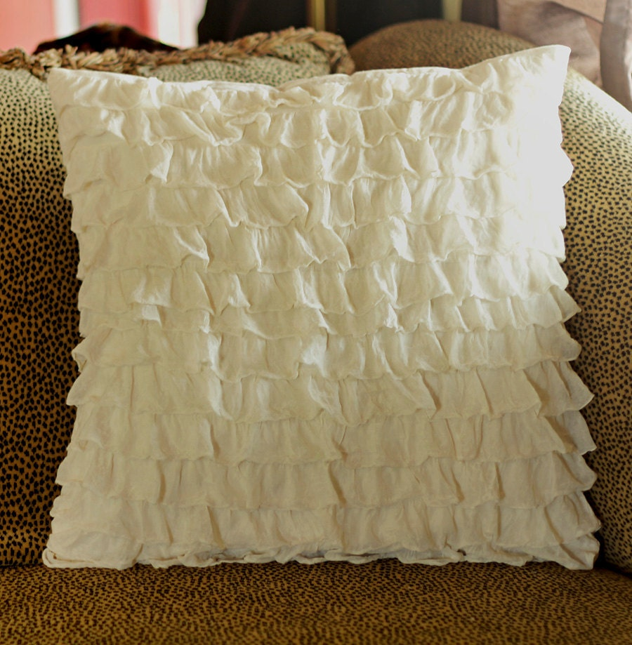 Ruffle Decorative Pillow Covers : Ruffle pillow covers by littlespudboutique on Etsy