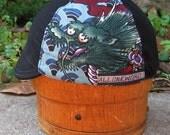Dragon Ho Handmade custom Cotton Cycle Cap Japanese sea dragon
