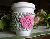 Crochet Cup Cozy - Rosey Pink