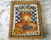 Prim Wooden Plaque - Honey Bear's Favorite Blend