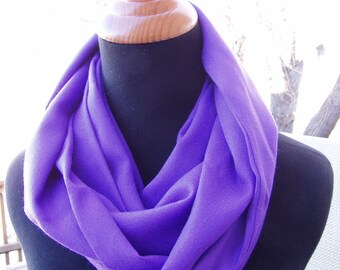 Infinity Scarf, Loop Scarf, Cotton Scarf, Eternity Scarf, Circle Scarf, Purple Scarf