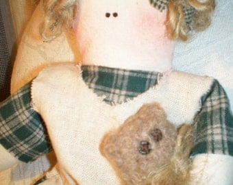 Prim Doll - Betsy and her Baby Bear