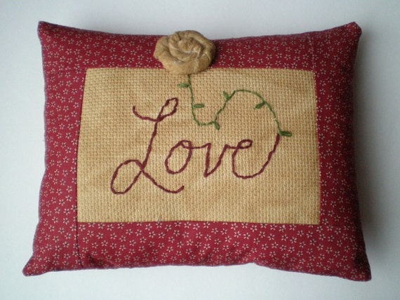 Decorative Love Pillow : Items similar to Pillow - Decorative - Love on Etsy