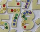Leaning Spots Numbers - ePattern for Print and Play Felt Figures