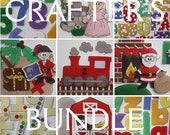 Crafter's Bundle -  Your Choice of ePatterns for Our Print and Play Felt Sets