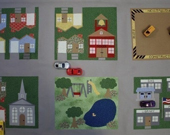 Toy Car Town Neighborhood - ePattern for a Toy Car Play Mat