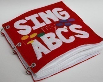 Sing My ABCs | Quiet Book Pattern, Busy Book Pattern, Travel Toys, Toddlers