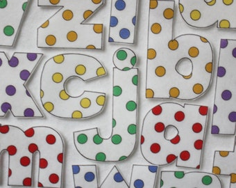 Leaning Spots Lowercase Letters - ePattern for Print and Play Felt Figures