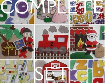 Complete Set - All 18 ePatterns for Our Print and Play Felt Sets