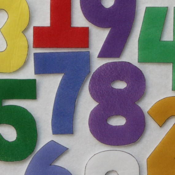 Leaning Solids Numbers - ePattern for Print and Play Felt Figures