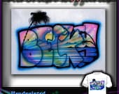 AIRBRUSH Palm Sunset Name Tshirt Design