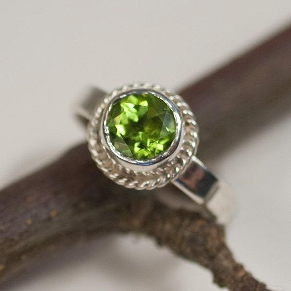 Silver Peridot Ring