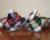 Bow Tie Dog Collar - Summer Madras