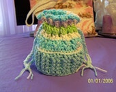 SPECIAL ORDER 6 CUPCAKE CRADLE PURSE Blues and greens cradle