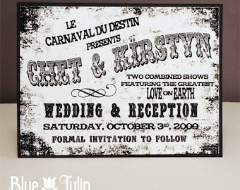 Vintage Circus Poster Save The Date