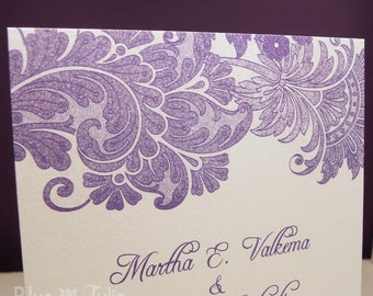 Lavender Lace Wedding Invitation