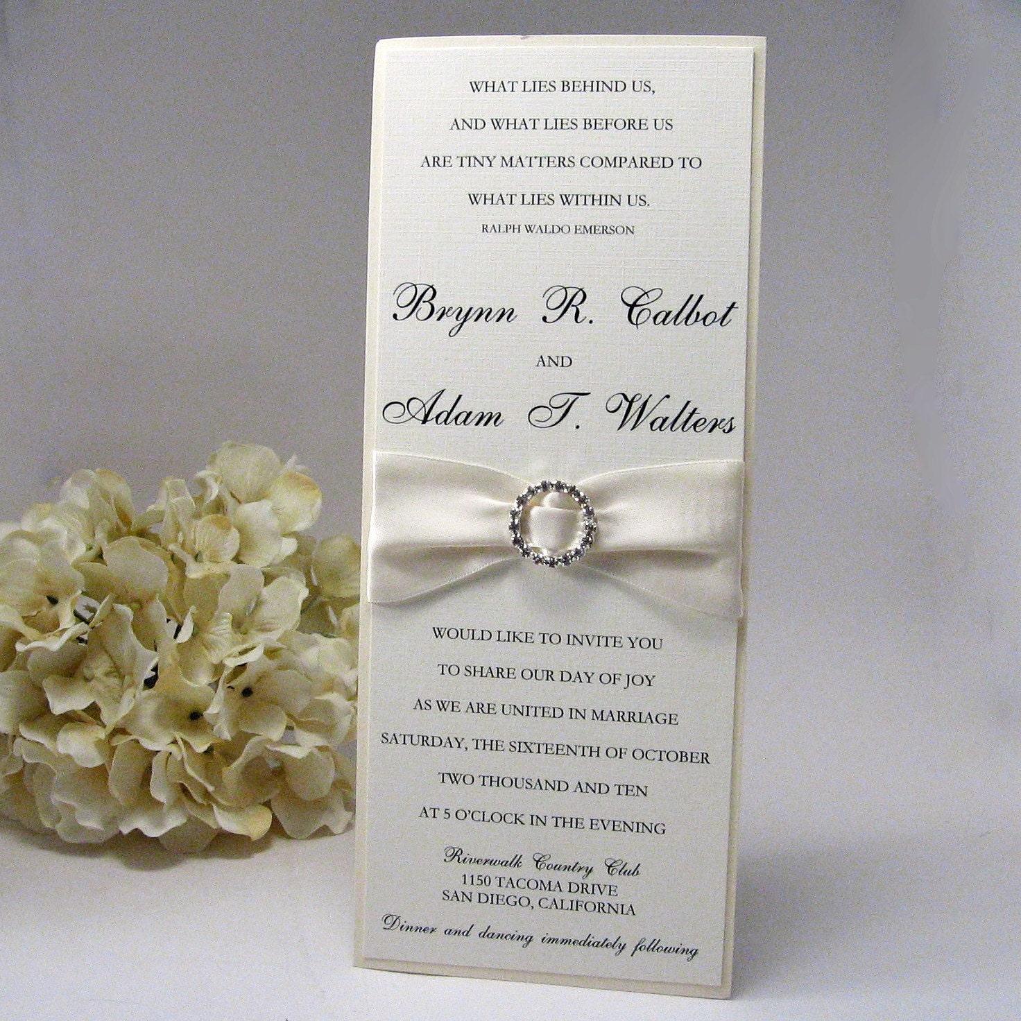 The Luxury In White Tea Length Wedding Invitation