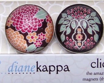 4 Pack of Amazingly Strong Magnets with Signature Floral Design