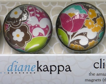 4 Pack of Amazingly Strong Magnets with Sheila's Garden Design