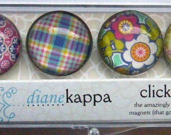 4 Pack of Amazingly Strong Magnets with Exotic Bohemian Design