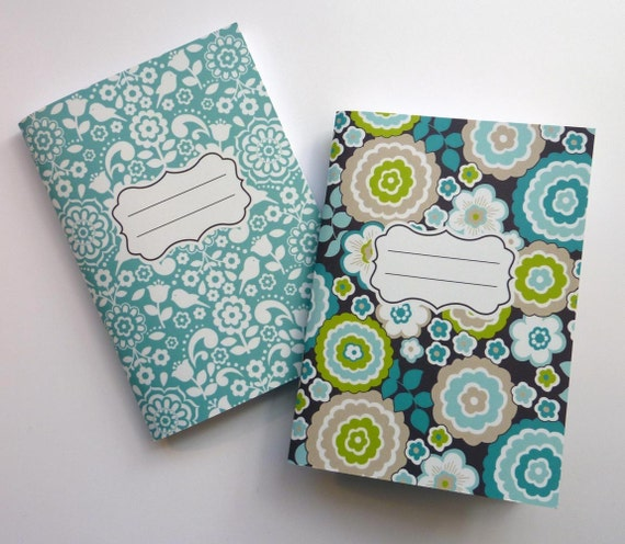 Blue Bonjour Notebook Set