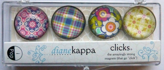 Magnet Set / Refrigerator Magnets / Bohemian Design / iPop / Diane Kappa