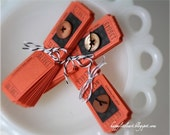 32 Carnival Raffle Orange Tickets perfect for Scrapbooking and More Fun Journaling Tags