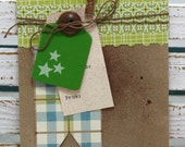 Make A Wish Decorated Paper Bag Gift Sack perfect for small gift or Gift Cards with Glittered Clothespin