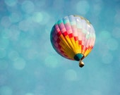 Up Up and Away. Hot Air Balloon Dreamy Whimsical Photography Print. No. 3148