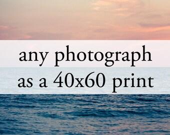 "Large Print - Any Photograph as a 40x60"" Print (102cm x 152cm)"