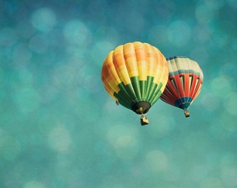 Nursery Art, Hot Air Balloons Fine Art Photography Print by Tricia McKellar. Floating No. 3195