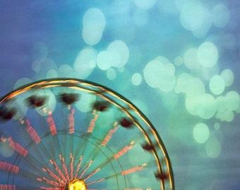 Ferris Wheel. Carnival 5x5 Metallic Photography Print. No. 2270
