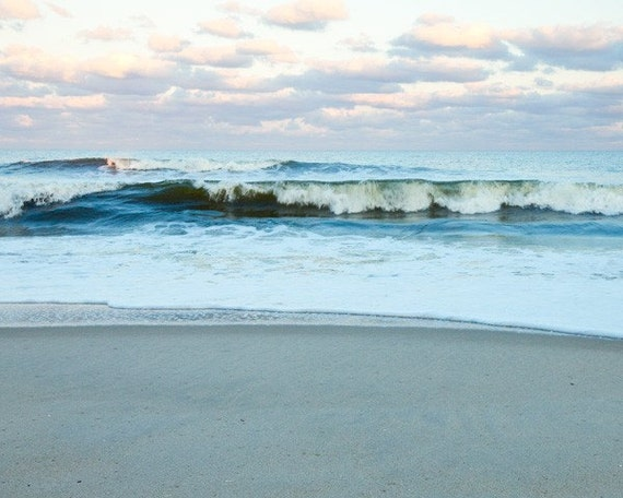 Blue Ocean Photograph, Wave, 8x10 Fine Art Photography Print of the Ocean, Beach, by Tricia McKellar, No. 1605