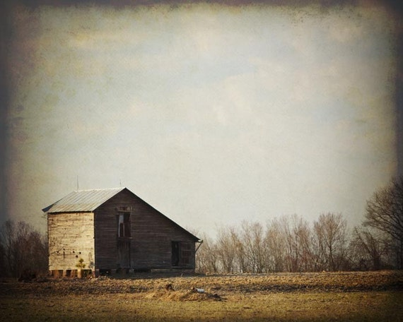 Southern Landscape Photograph with Barn, Pastoral, 8x10 Fine Art Photograph by Tricia McKellar, Barn (3636)
