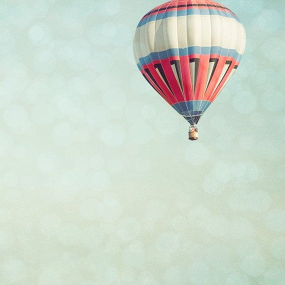 Ascent. Hot Air Balloon 5x5 Fine Art Photography Print by Tricia McKellar. No. 3413