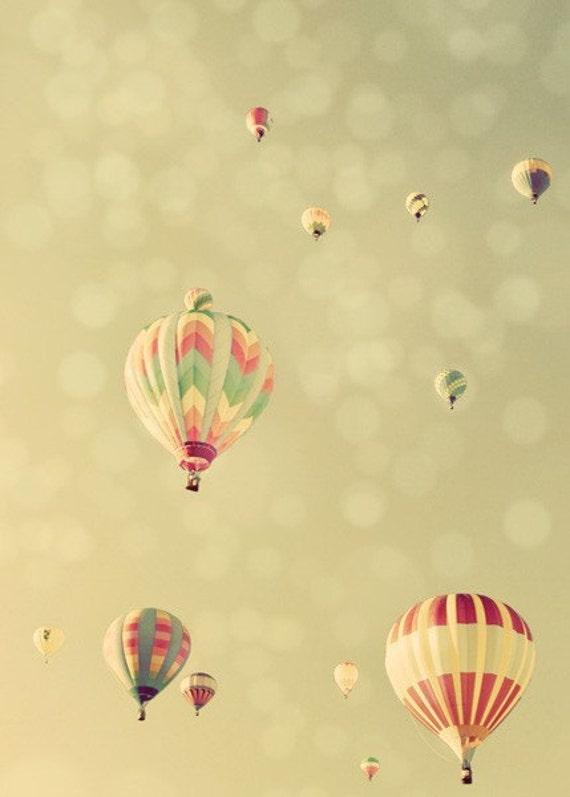 Hot Air Balloon Photograph, Dream of Flight, Fine Art Photography Print. No. 3237. Vertical