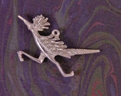 Pewter Roadrunner Bird Pendant