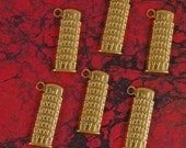 ITALY- Brass Set of Six Leaning Tower of Pisa Charms