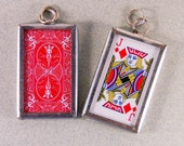 Double-sided Playing Card Jack of Diamonds Charm Pendant