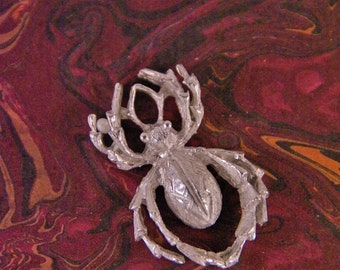 Pewter Spider Charm Pendant