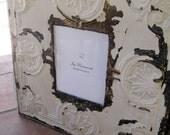 HUGE Antique Ceiling Tin Tile 8x10 Picture Frame LARGE 24x24 2ft