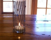 Wire Bamboo Tea Candle Cover